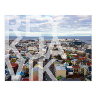 CARTE POSTALE de paysage urbain de Reykjavík