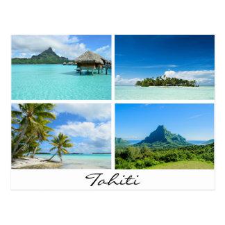 Carte postale de paysages du Tahiti et de la