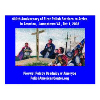 Carte Postale De PC 400th d'anniversaire colons polonais d'abord