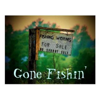 Carte postale de pêche allée