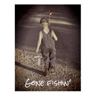 Carte postale de pêche allée de faire-part de