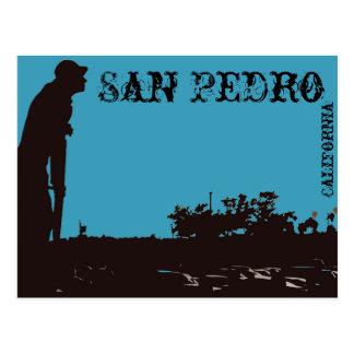 Carte postale de pêcheur de San Pedro