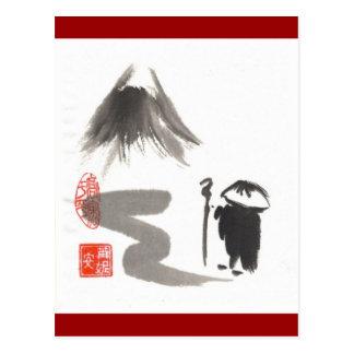 Carte postale de pèlerin de zen