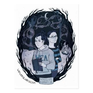 """Carte postale de """"Pénélope et d'Ophélie"""" -"""
