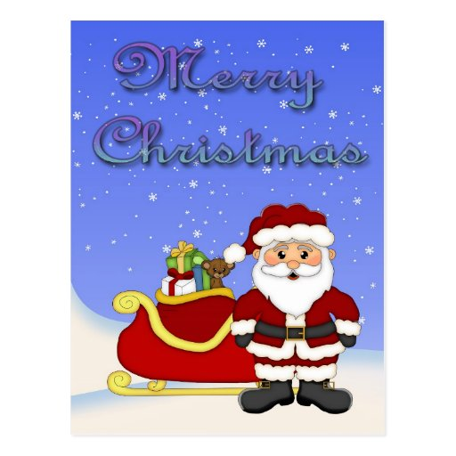 Carte postale de Père Noël de Joyeux Noël