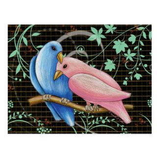 Carte postale de perruches