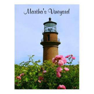 Carte postale de phare d'Aquinnah de Martha's
