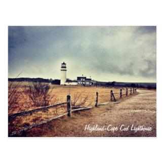 Carte postale de phare de Cape Cod (montagne)