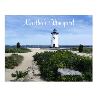Carte postale de phare d'Edgartown de Martha's