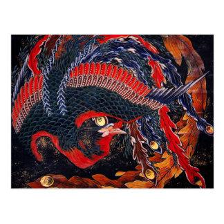 Carte postale de Phoenix de Japonais de Hokusai