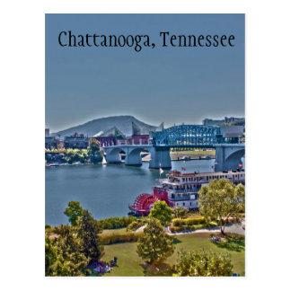 Carte postale de photo de Chattanooga, Tennessee