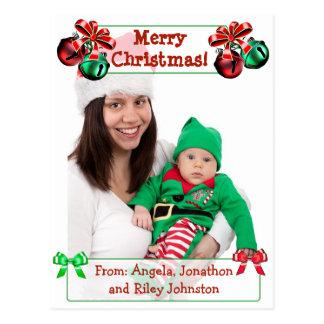 Carte postale de photo de famille de Noël de