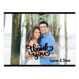Carte postale de photo de Merci