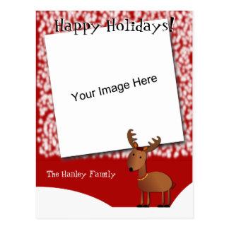 Carte postale de photo de Noël de tintements