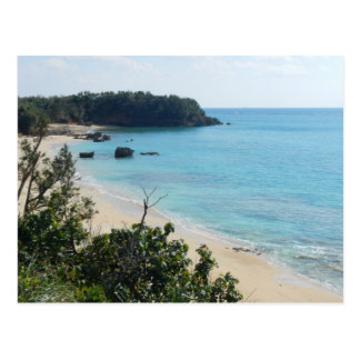 Carte postale de photo de plage de l'Okinawa