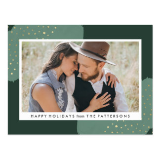 Carte postale de photo de vacances des confettis  
