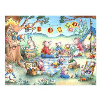 Carte postale de Picknick de souris