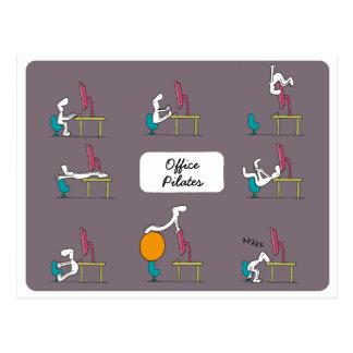 Carte postale de Pilates de bureau, brune