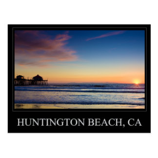 Carte postale de pilier de Huntington Beach