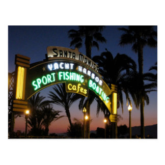 Carte postale de pilier de Santa Monica