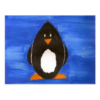 Carte postale de pingouin