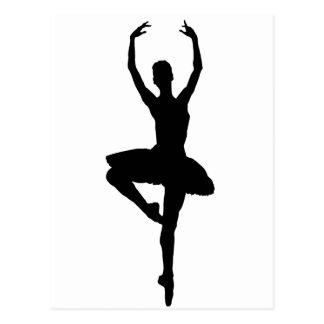 Carte Postale ~~ de PIROUETTE de BALLERINE (silhouette de danse