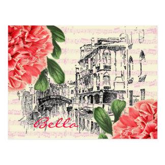 Carte postale de pivoine de Bella Italie