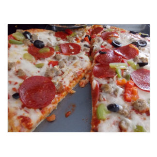 Carte postale de pizza