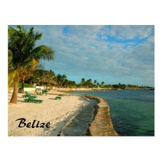 Carte postale de plage de Belize