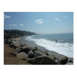 Carte postale de plage de Malibu