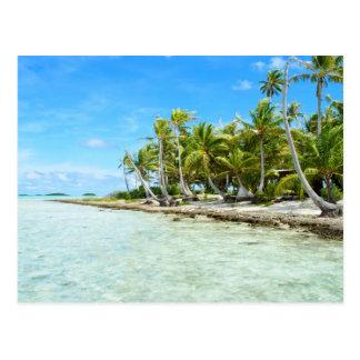 Carte postale de plage de noix de coco