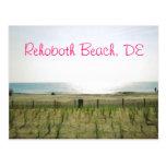 Carte postale de plage de Rehoboth - encre rose