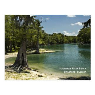 Carte postale de plage de rivière