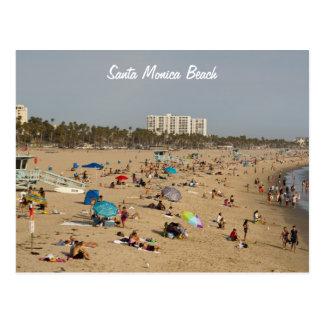 Carte postale de plage de Santa Monica