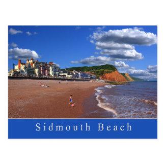 Carte postale de plage de Sidmouth