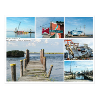 Carte postale de plage de tonnelles