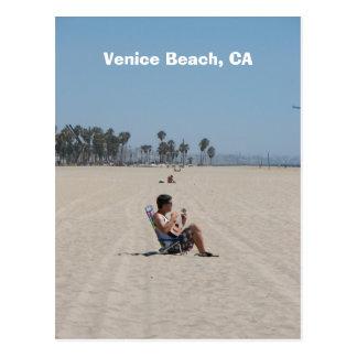 Carte postale de plage de Venise d'amusement !