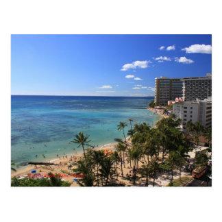 Carte postale de plage de Waikiki