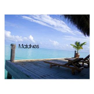 Carte postale de plage des Maldives