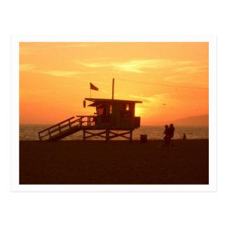Carte postale de plage d'état de Santa Monica