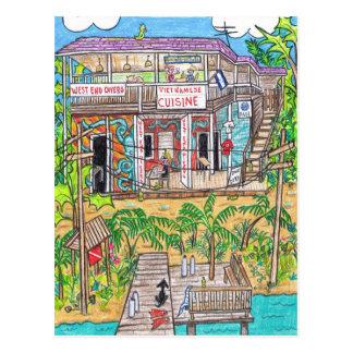 Carte postale de plongeurs de West End