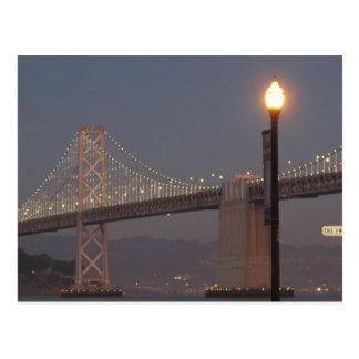 Carte postale de pont de baie de San Francisco