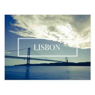 Carte postale de pont de Lisbonne