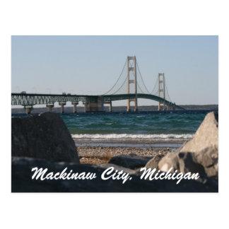 Carte postale de pont de Mackinac