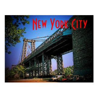 Carte postale de pont de New York City