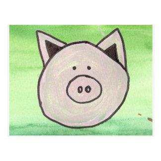 Carte postale de porc