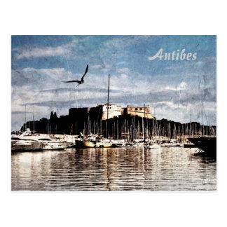 Carte postale de port d'Antibes