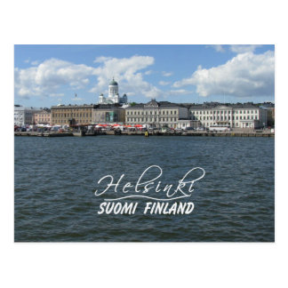 Carte postale de port de Helsinki, personnaliser