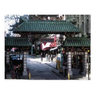 Carte postale de porte de Chinatown
