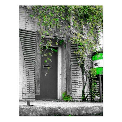 Carte postale de porte de vigne